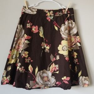 TOMMY HILFIGER Brown Floral Skirt Sz. 10